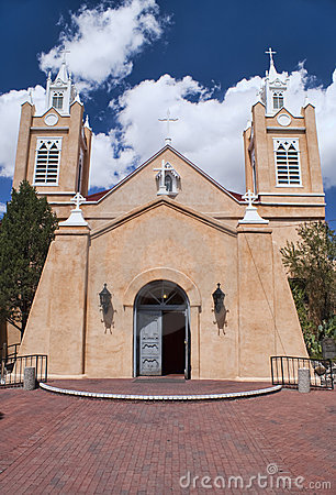 Free Church Of San Felipe In Albuquerque, New Mexico. Royalty Free Stock Photos - 12372898