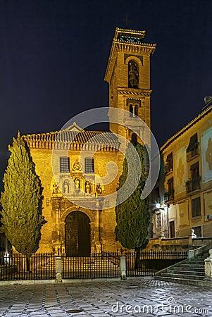 Free Church Of San Gil And Santa Ana, Granada, Spain Royalty Free Stock Photography - 90062287