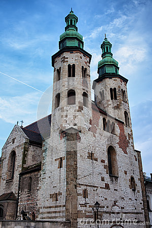 Free Church Of St. Andrew In Krakow Stock Images - 48597294
