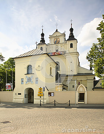 Free Church Of St. John The Baptist In Janow Lubelski. Poland Stock Image - 50690921