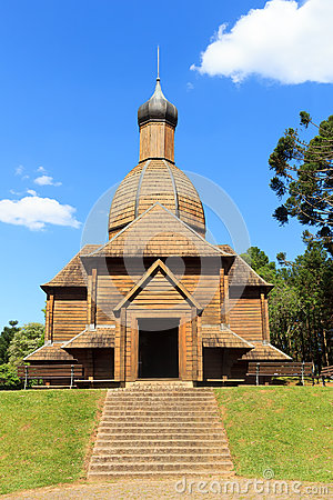 Free Church Of St. Michael, Ukrainian Memorial, Curitiba, Parana Stat Royalty Free Stock Image - 46923386
