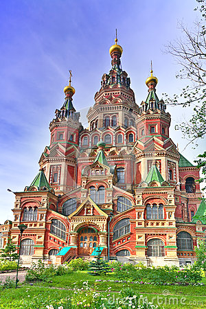 Free Church Of St. Peter And Paul Church, Peterhof Royalty Free Stock Image - 26240806