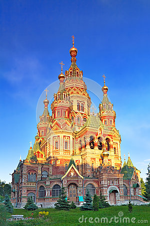 Free Church Of St. Peter And Paul Church, Peterhof Royalty Free Stock Photo - 26300675