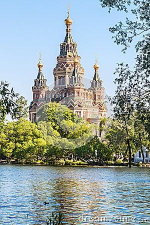Free Church Of St. Peter And Paul Church, Peterhof, Saint Petersburg Royalty Free Stock Photo - 56837135