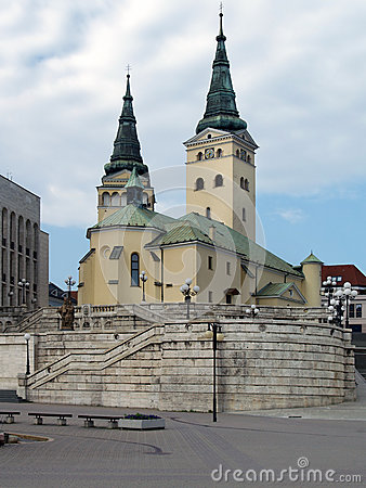Free Church Of The Holy Trinity, Zilina Royalty Free Stock Photos - 32566638