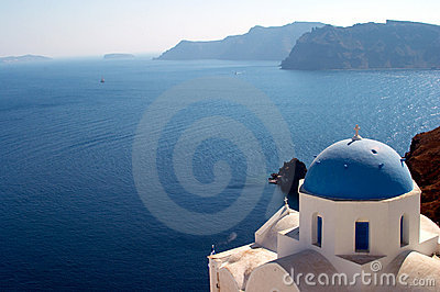 Church in Oia Santorini Greece