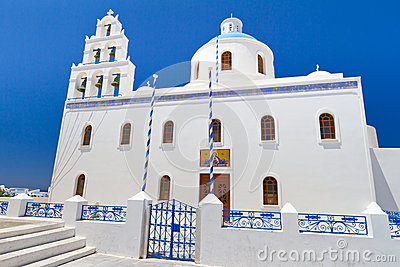 Church of Oia town on Santorini