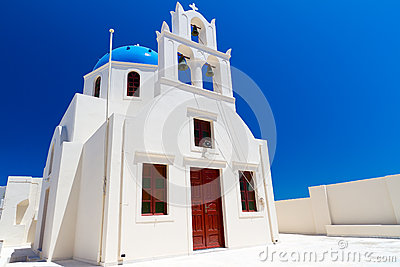 Church of Oia village at Santorini island