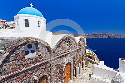 Church of Oia village on Santorini island
