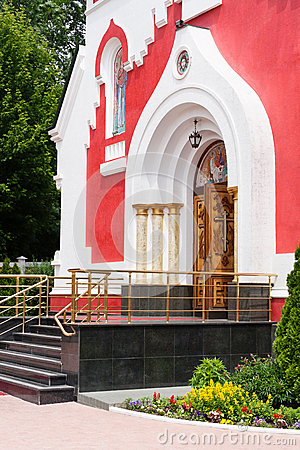 Church orthodox entrance