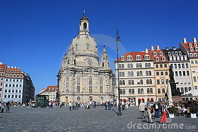 Church Of Our Lady, Dresden Editorial Photography