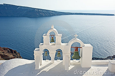 Church overlooking Aegean Sea.