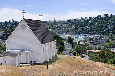 Church overlooking Tiburon California