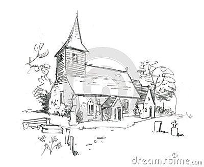 Church Pencil Sketch