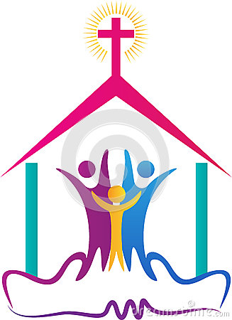 Free Church People Logo Royalty Free Stock Photography - 53977217