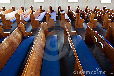 Church Pews Lined Up