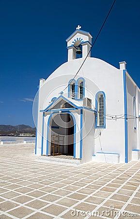 Church Pollonia Milos Cyclades  Greek island