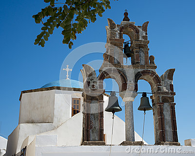 Church in Pyrgos Kallistis, Santorini, Greece
