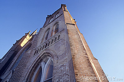Church Reaching Skyward