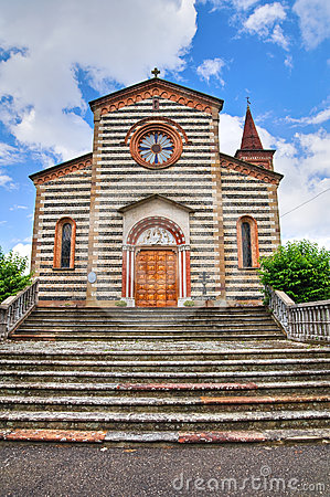 Church of Rezzanello. Emilia-Romagna. Italy.