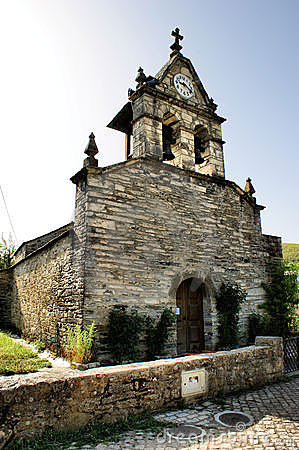 Church of Rio de Onor a small village of Braganca, Portugal.