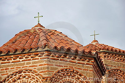 Church roof and facade
