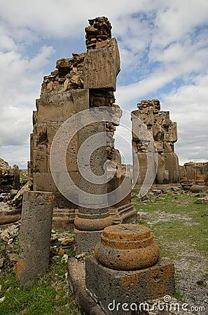 Church ruins in city of Ani, Turkey