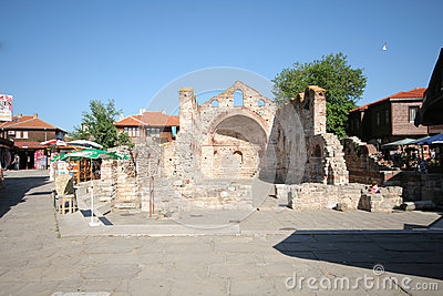 Church ruins in Nessebar Editorial Image