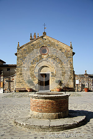 Church of Saint Maria in Monteriggioni (Tuscany, Italy)