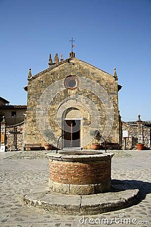 Church of Saint Maria in Monteriggioni (Tuscany, Italy)