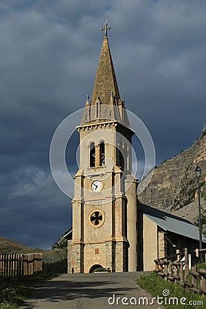 Church Saint Michel Saint Mammes, Cervieres, Alps, France