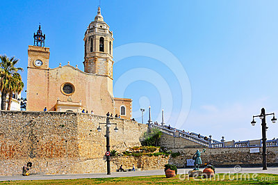 Church of Sant Bartomeu  Sitges, Spain Editorial Image