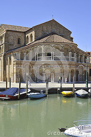 Church of Santa Maria e San Donato in Murano Island Editorial Photography
