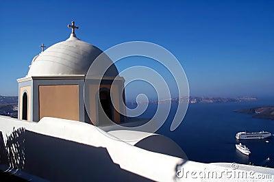 Church in Santorini 2 Stock Photo