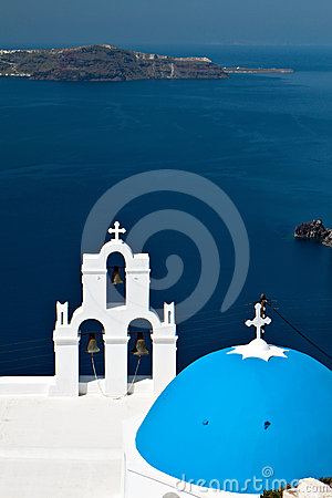 Church at Santorini island in Greece