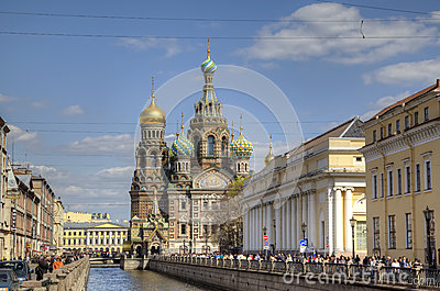 Church of the Savior on Spilled Blood Editorial Stock Image
