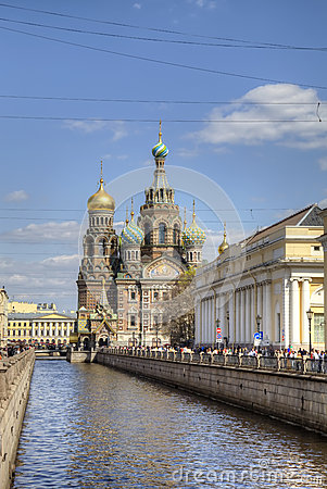 Church of the Savior on Spilled Blood Editorial Stock Photo