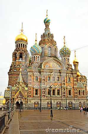 Church of the Savior on Spilled Blood in Petersburg, Russia Editorial Stock Photo