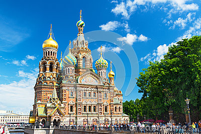 Church of the Savior on Spilled Blood in Saint Petersburg Editorial Image