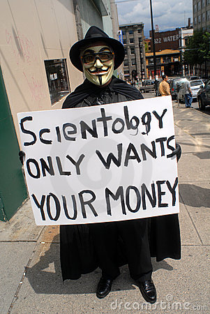 Church of Scientology protest Editorial Photo