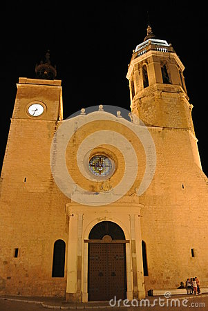 Church in Sitges, Costa Dorada, Spain Editorial Image