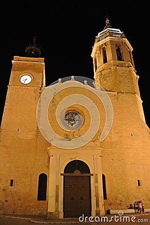 Church in Sitges, Costa Dorada, Spain Editorial Image