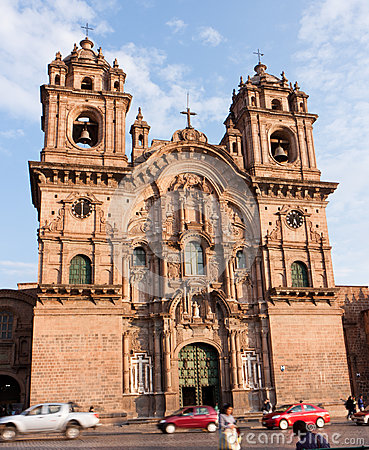 Church of the Society of Jesus, Cusco, Peru Editorial Stock Photo