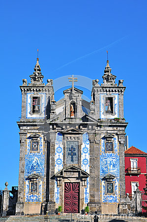 Church of St. Ildefonso in Porto, Portugal Editorial Stock Photo