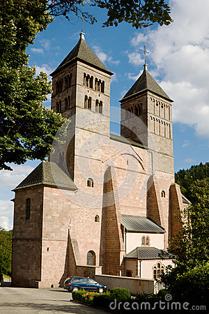 The church of St. Leger in Murbach abbey in France