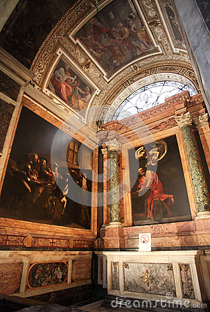 The Church of St. Louis of the French in Rome Editorial Photo