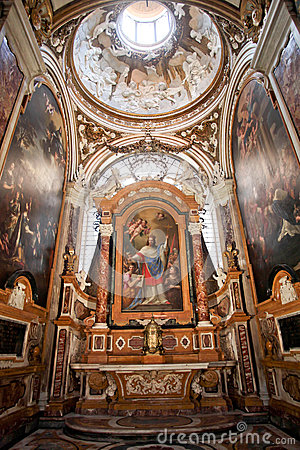 The Church of St. Louis of the French in Rome Editorial Image