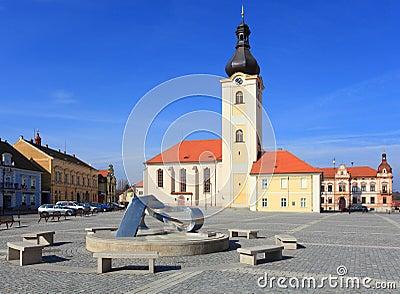 Church of St. Nicholas in Dobrany City. Editorial Stock Photo