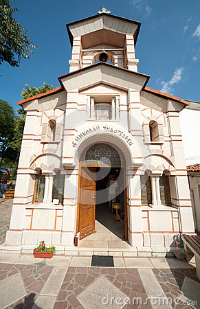 The Church of St. Nicholas in the seaport town of Sozopol in Bulgaria Editorial Stock Photo
