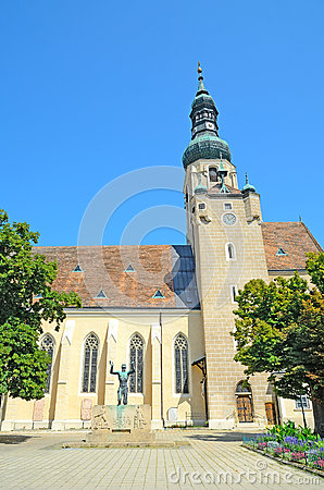 Church of St. Stephan in Baden bei Wien, Austria Editorial Photography